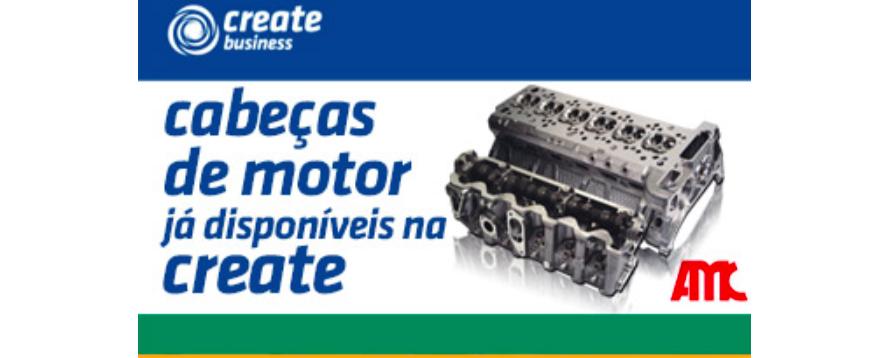 CREATE AMC cabeças de motor