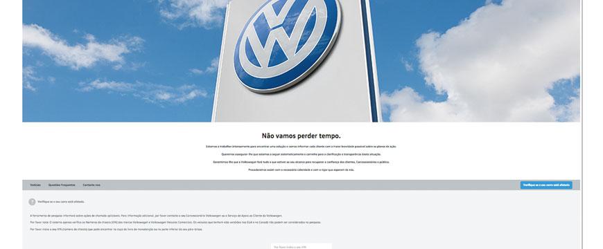 Site da Volkswagen