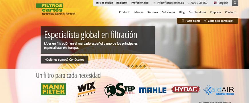 Novo site Filtros Cartés