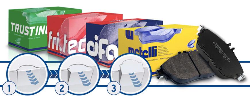 novas embalagens para pastilhas de travão metelli