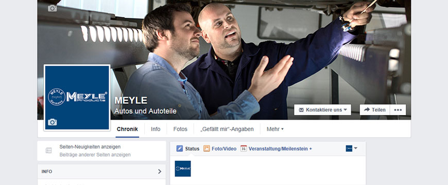 Meyle aposta na interação através do Facebook