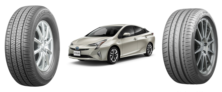 Bridgestone equipa Toyota prius