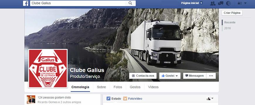 Facebook Clube Galius