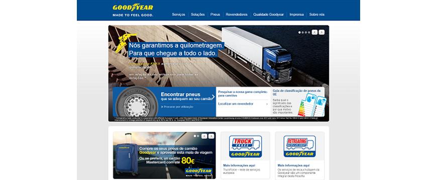 Goodyear tem novo website de pneus de camião