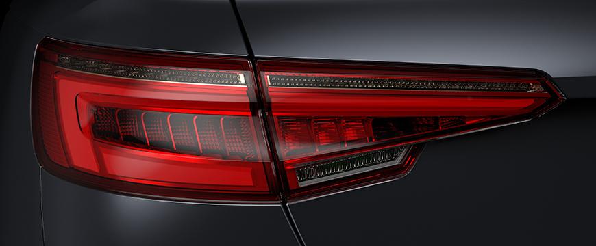 Audi A4 com iluminação Hella