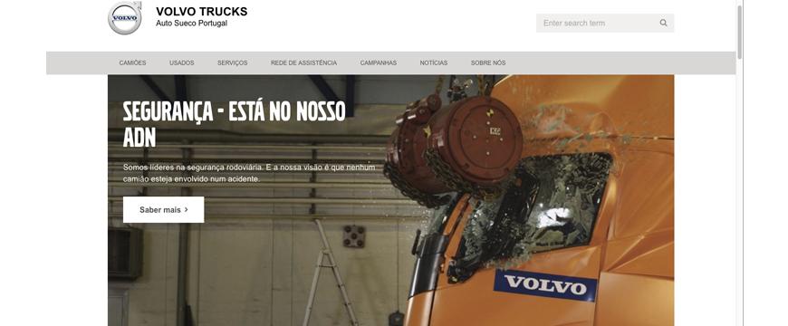 Novo site Volvo Trucks