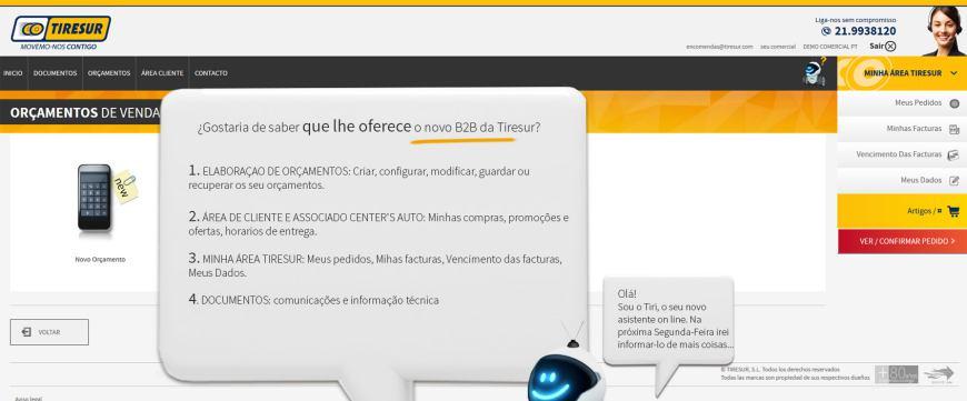 Tiresur estreia o novo B2B para clientes em Portugal