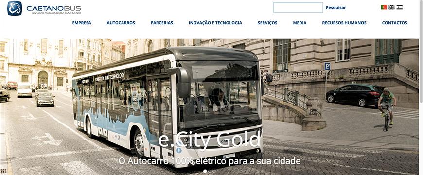 CaetanoBus comemora 70 anos com novo site
