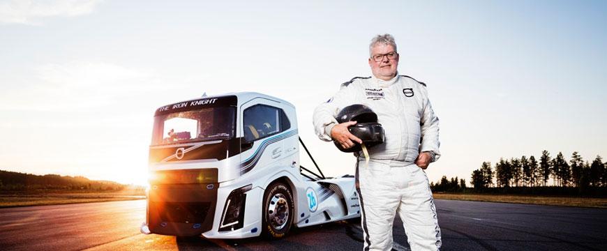 Recorde velocidade camião Volvo Iron Knight