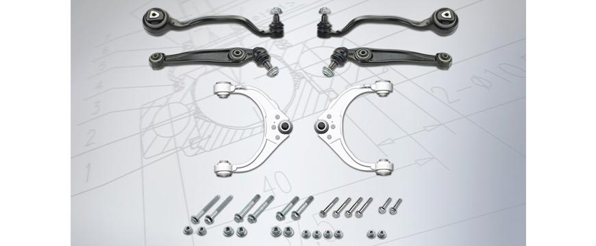 Meyle-HD com braços de suspensão 3 em 1 para BMW X5 e X6