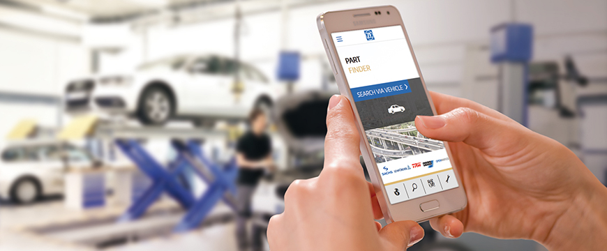 Nova aplicação da ZF Aftermarket com informação imediata sobre peças
