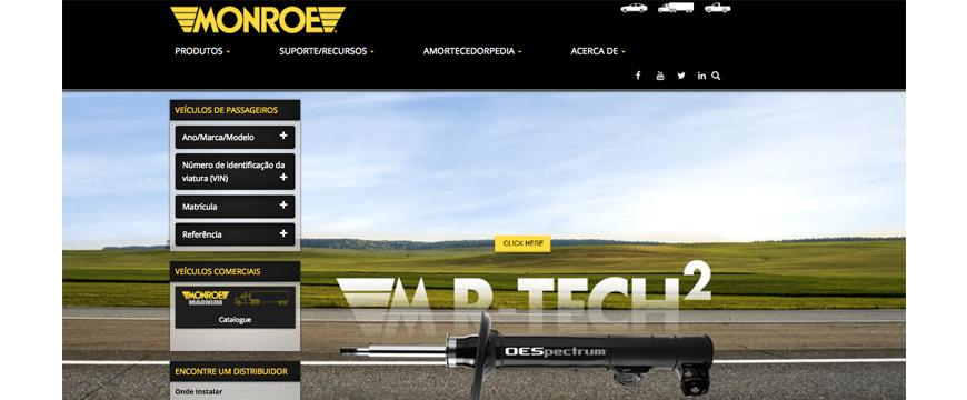 Monroe com novo site em português
