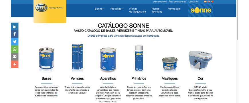 Hella apresenta novo site em português para a Sonne