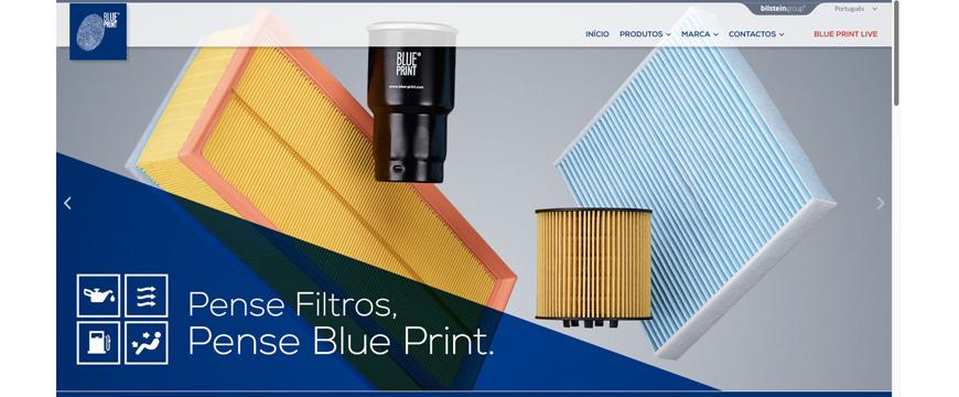 Blue Print estreia site em português