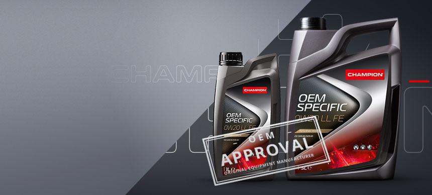 Óleos Champion cumprem as especificações VW 508 00 ou 509 00