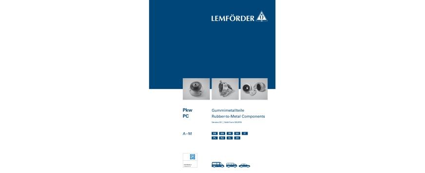 Novo catálogo Lemförder de componentes borracha-metal para ligeiros