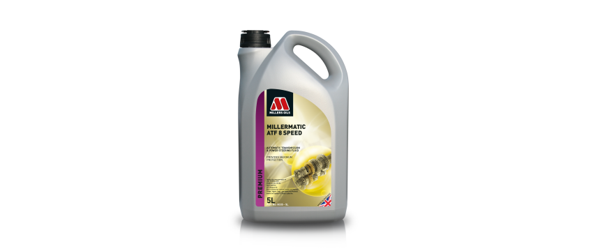 Millermatic ATF 8 SPEED da Millers Oils mais versátil