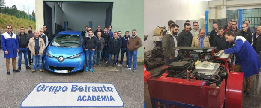 GrupoBeirauto Academia realiza formação em veículos elétricos e híbridos