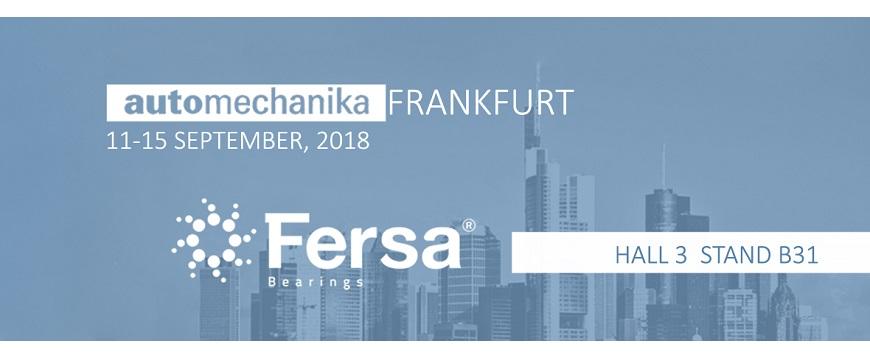 Fersa leva novidades à Automechanika Frankfurt