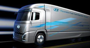 """Hyundai revela novo camião ecológico """"fuel cell"""""""
