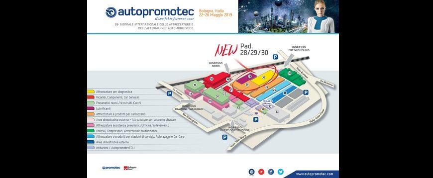 Mais área de exposição na Autopromotec 2019