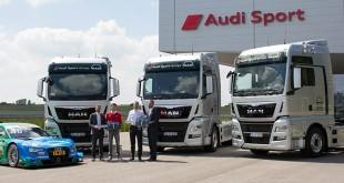 Oito tratores MAN TGX para a Audi Sport