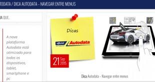 Dica Autodata: Navegar entre menus