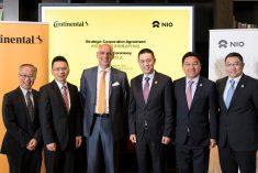 Continental e NIO assinam acordo de cooperação na área dos veículos elétricos