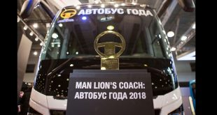 """MAN Lion's Coach premiado como """"Melhor Autocarro Turismo/Internacional 2018""""."""