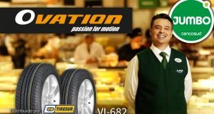 Tiresur distribui pneus Ovation em hipermercados na Colômbia