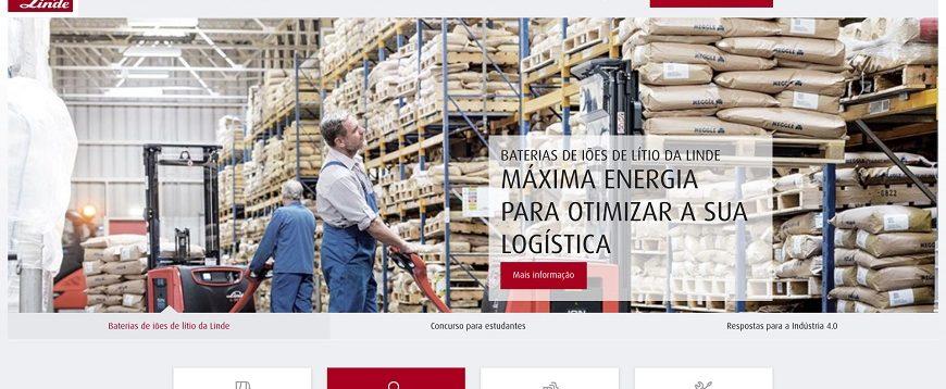 Linde Material Handling Ibérica lança novas páginas web