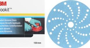 Novo disco Hookit azul multifuros da 3M