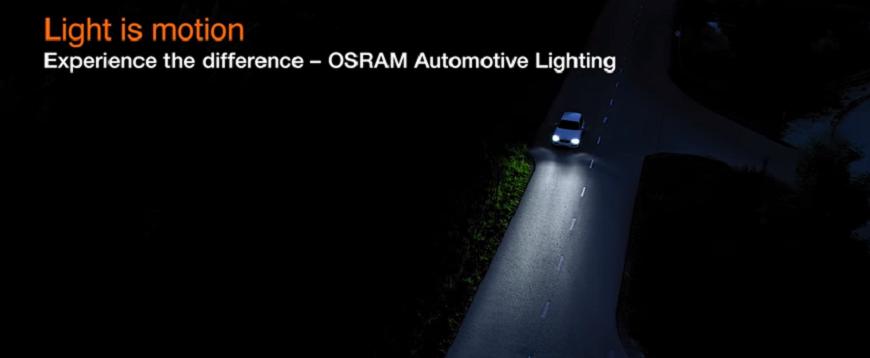 Vídeo de comparação de lâmpadas de halogéneo Osram