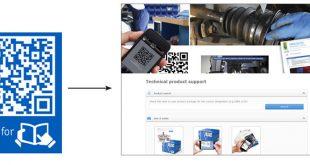 SKF alarga códigos QR a toda a gama de produtos