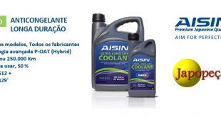 Japopeças disponibiliza agora anticongelante premium da AISIN