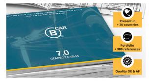 Novo catálogo de cabos de caixas de velocidades B Car