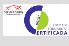 Car Academy entidade formadora certificada pela DGERT