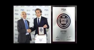 """Dayco ganha o Prémio de """"Melhor Fábrica"""" atribuído pela PSA"""