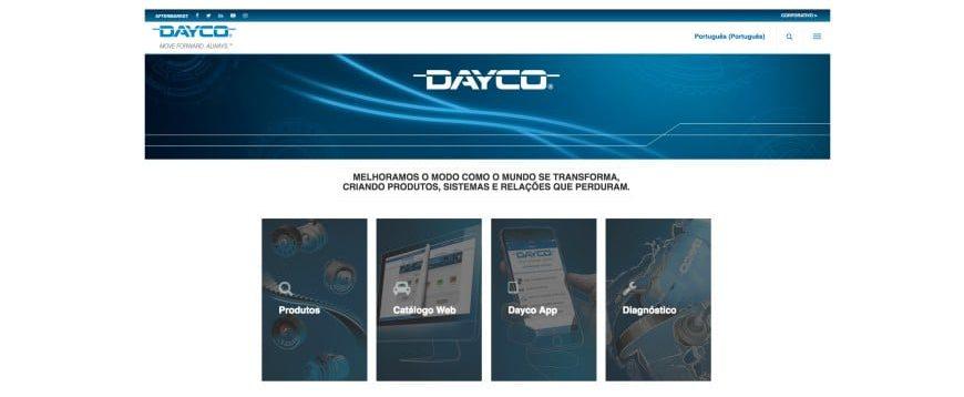 Dayco com nova imagem corporativa e novos websites