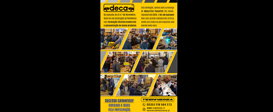 Tecniverca promove ação de formação Deca