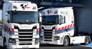 Scania fornece 14 unidades tratoras às operações do MotoGP