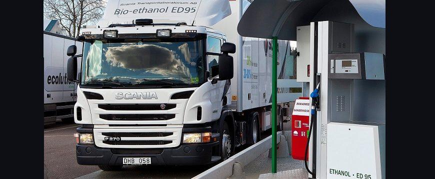 Novo motor Scania de 13 litros a bioetanol