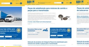 Nova página web da Europart