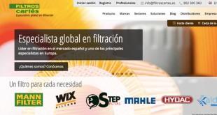Filtros Cartés renova o website