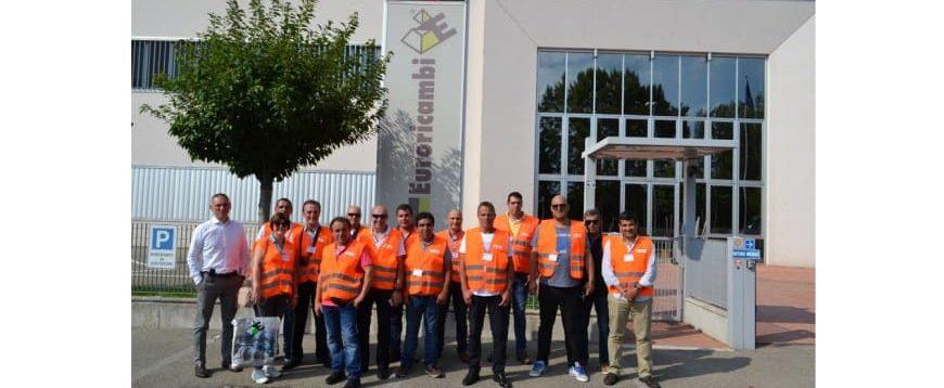 HBC e clientes visitam Euroricambi