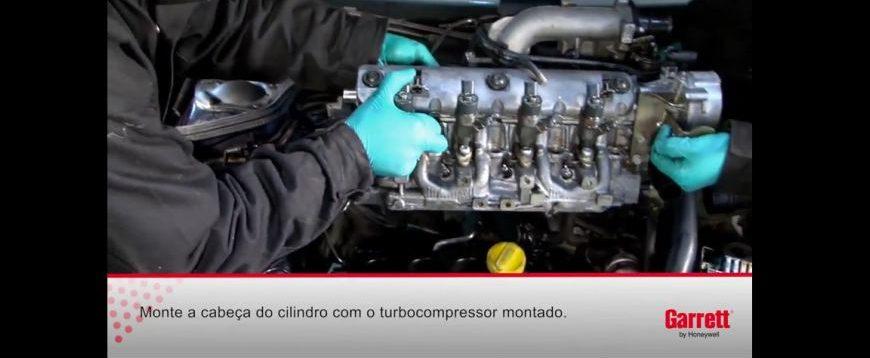 Instruções de montagem de um turbo no motor F9Q Renault (video técnico)