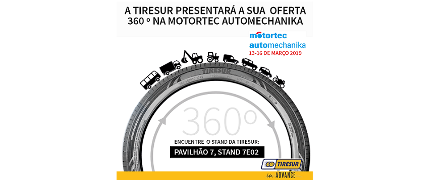 Tiresur leva oferta completa de pneus à Motortec