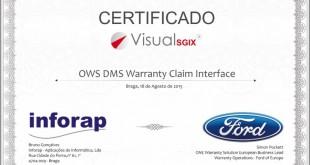 Inforap obtém certificação Ford