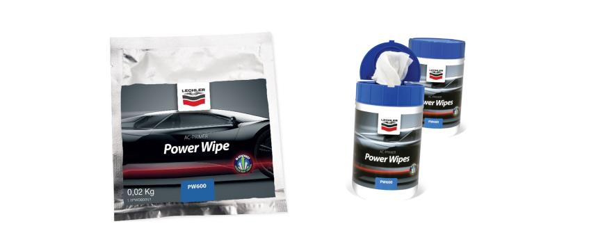 Novos toalhetes Power Wipes da Lechler para oficina de colisão