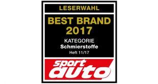 Liqui Moly a marca preferida dos leitores da revista alemã Sport Auto